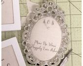 Custom Wedding ring holder OVAL diamond frame: engagement ring holder, bridal shower gift, for her, ring stand