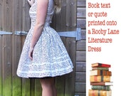 Personalised Womens Book Dress OR SKIRT ,Custom Made Wedding Dress By Rooby Lane,