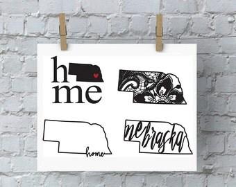 Nebraska Home SVG - Nebraska SVG - Home - State Pride - DIY Crafts - Cornhuskers - State Pride - Nebraska Football - Nebraska Huskers