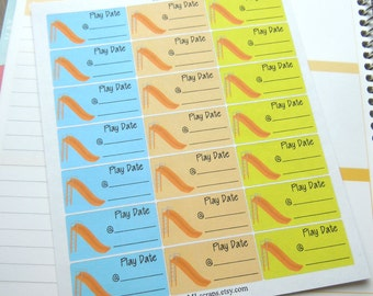 Large Playdate Planner Stickers-Boy Colors
