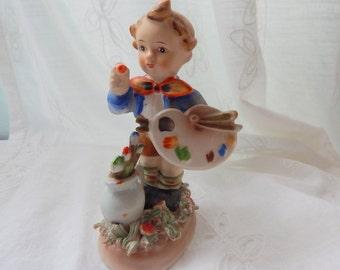 American Children Artist, Artist Boy Figurine, Occupied Japan