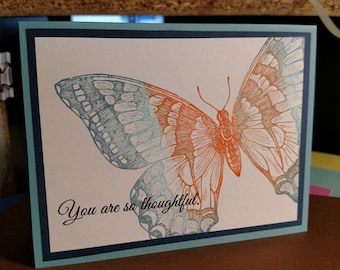 Assorted Hand Stamped Cards - Assorted Handmade Cards - Hand stamped cards - Handcrafted Cards - Thank You cards Assorted 3.00