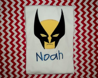 Custom Wolverine inspired applique on a shirt or onesie