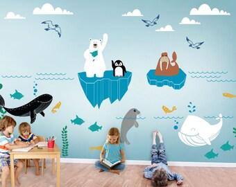 Alaska Wild Underwater World Wall Decal - Kids and Nursery Wall Decor