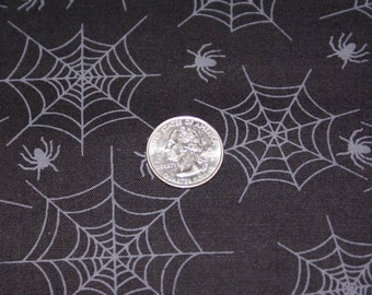 """2 Lengths x 44"""" Wide Cotton Spider Print Fabric"""