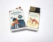 Camel Filters Lighter Joe Camel Match Striker Cigarette Pack Set of 2