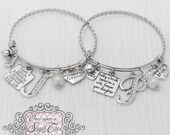 Mother of Bride Bracelet, Mother of Groom Bracelet- Today a Groom Today a Bride, Wedding Gift to Parents, Wedding Jewelry-Expandable Bangle