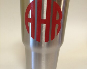 Stainless Steel 30 oz tumbler - personalized - ice all day