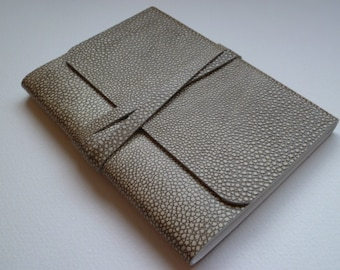 Leather Sketchbook Leather Journal Travel Journal Leather book Stingray Design Embossed onto the Leather Hide.