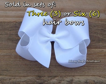 EXTRA Large Boutique Hair Bow~Boutique Hair Bow~Basic Hair Bow~Solid Color Hair Bow~XL Hair Bow~Wholesale Hair Bows~Hair Bow Sets~Hair Bows