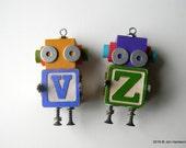 RESERVED for Sonja - CUSTOM ORDER - Robot Ornaments by Jen Hardwick