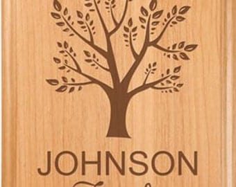 Engraved Family Tree Wall Plaque - Engraved Solid Alder Wood - Family Tree - Wall Decor - Wedding Gift - Housewarming