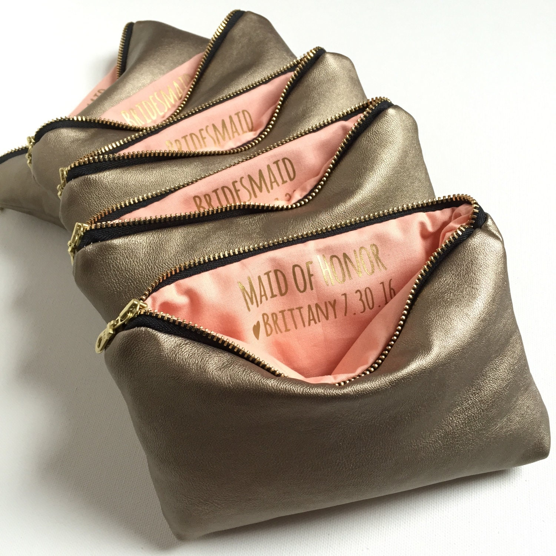 Personalized Bridesmaid Makeup Bag