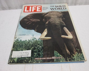 Life Magazine December 1967, Africa, elephants, Ford cars, coca cola, the outback, australia, vintage advertising