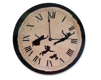 Peter Pan Clock   Peter Pan   Gift   Kids Gift   Large Clock   Whimsy   Kitchen Clock   Cool Gift   Children Clock   Kid clock