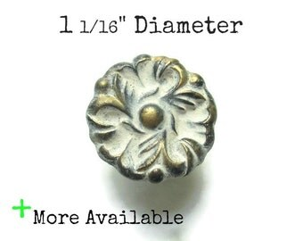 "Vintage French Provincial Drawer Knobs - 1 1/16"" Diameter Ornate Pulls - More available"