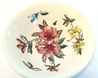 Vintage Windsor Ware Azalea China Bowl. Johnson Bros England . Flower Bowl