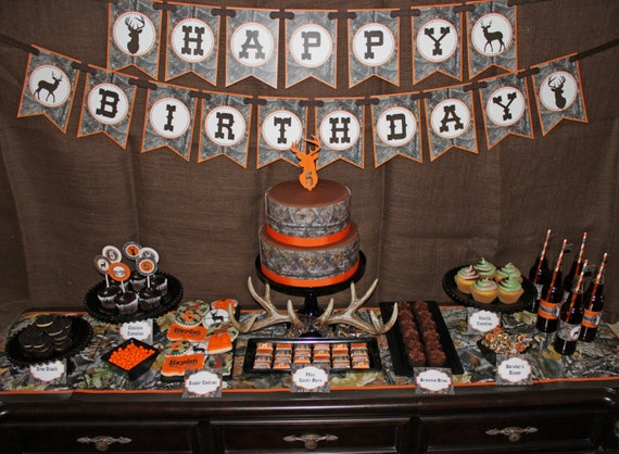 Camo Boy Hunting Banner Birthday Party By CupcakeExpress