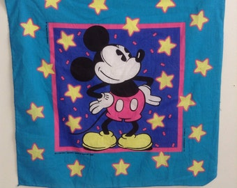 Set of two vintage Walt Disney Mickey Mouse bandanas USA