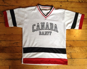 Vintage Banff Canada jersey shirt youth 14