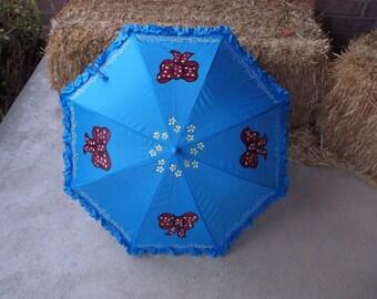 Ready to Ship Poppins Inspired Blue Parasol Umbrella