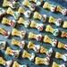 Mini Peanut Butter Jelly Bones - 2 dozen dog treats - gourmet dog bones - small dog bone shaped cookies