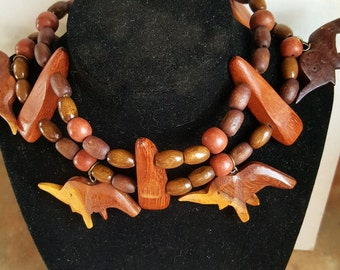 Beautiful, Unique Wood Necklace/Choker