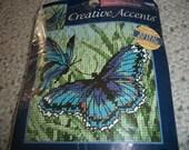 Butterflies in Blue Needlepoint Kit