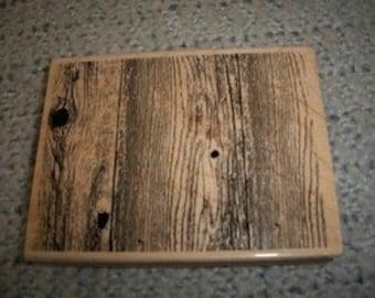 Wood Grain Rubber Stamp
