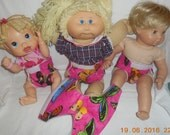 Ready to Ship cloth Doll Diaper butterfly adjust washable fits bitty baby some baby alive all gone American Girl doll & stuffed animals