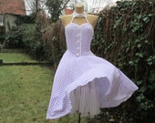 Nice Dress Vintage / Circle Dress /  for Special Occasions / Dance Dress / Rockn Roll / Petticoat / Size EUR36 / UK8 / S
