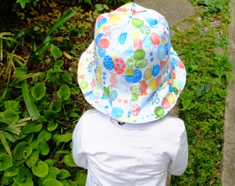 Reversible Tulip Hat, Size 50 (2 Y - 3 Y),Butterflies