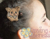 Pokemon Inspired Hair Clip, Badge Reel, Planner Accessory, or Book Mark - Meet Eevee
