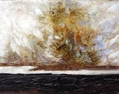 Original, Abstract Painting,  Landscape Painting  on Canvas 7x5 inches. Painting will come with Mat.