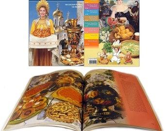 "Rare Book  *Russian Cuisine"" 128 Colour Plates 130 Recipe book in English.   Beautiful GIFT Edition. Published in Russia."