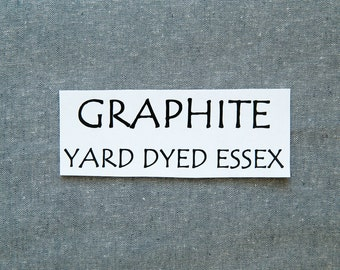 One Yard GRAPHITE Yarn Dyed Essex, Linen and Cotton Blend Fabric from Robert Kaufman, E064-295