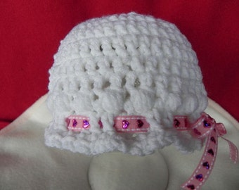 Newborn Baby Girl Hat INVENTORY REDUCTION SALE Ready to Ship