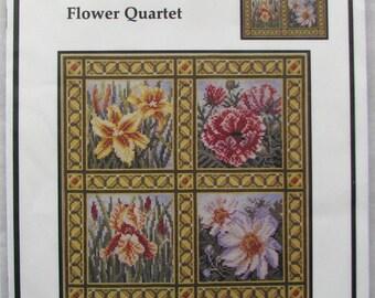 Teresa Wentzler Wool Cross/Berlin Work Flower Quartet CHART