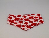 Canada Day Dog  Bandana - Over the collar