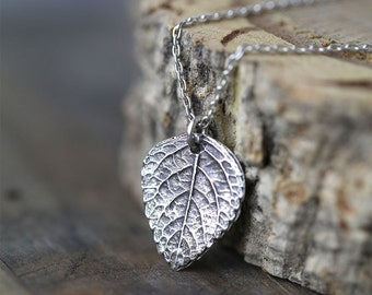 Silver Leaf Necklace, Gift for Women, Sterling Silver Necklace for Women, Wife Gift, Girlfriend Gift, Jewellery by burnish