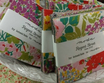 Regent Street Lawn 2015 charm pack by Sentimental Studios for moda fabrics