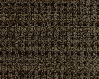 Woven Soft Striped Chenille Upholstery Fabric - Economical, Durable, Easy Clean - Color: Gable Hickory - Per yard