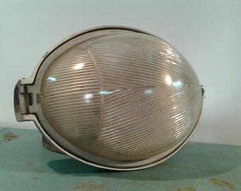 """Industrial   street spotlight , Made in Spain by """"PHILIPS"""" from the 60s, street pendant light"""
