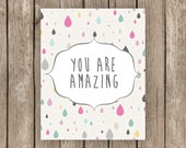 You are Amazing wall art printable poster school counseling, school counselor, teacher classroom, child room, nursery, positive affirmation