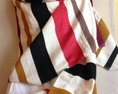 RESERVED for Janis-Blanket scarf- striped multicolored winter Blanket wrap - Handwoven winter wool Extra large ( XL) scarves shawl wrap