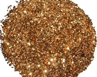 Cinnamon SOLVENT RESISTANT GLITTER 0.040 Hex - 1 Fl. Ounce for Glitter Nail Art, Glitter Nail Polish & Glitter Crafts