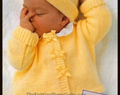 """PDF Knitting Pattern - 3 Designs of Tiny Premature Babies/Newborns Cardigans 17-23"""" - Easy Knit - Instant Download"""