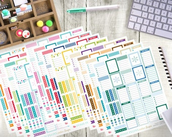 All Month Planner Printable Package/ Erin Condren Planner Stickers/ Printable Planner Stickers/ Printable Erin Condren Stickers/ Matching