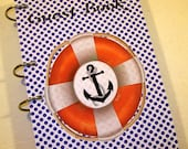 Guest Book, Nautical Party, Party Sign in Book, Baby Shower Guest Book, Nautical Birthday,  Sailor First Birthday, Nautical Baby Shower