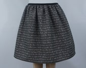 Book Text full skirt - TONS of BOOKS & COLORS - made to order
